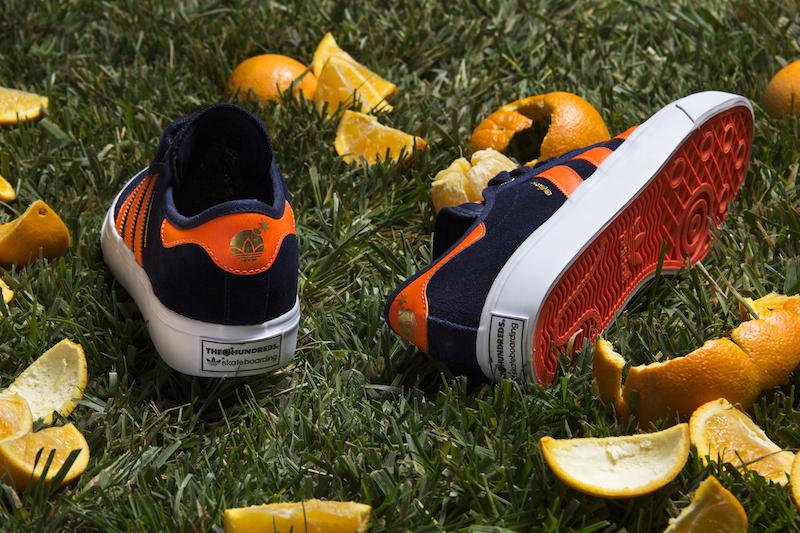 The HundredsXadidasskateboarding-OrangeCrush-Shoe1